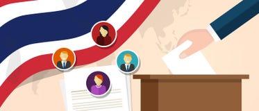 Processo político da democracia tailandesa de Tailândia que seleciona o presidente ou o membro do parlamento com liberdade da ele ilustração stock