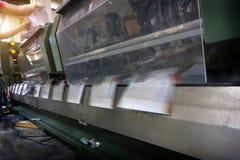 Processo in stamperia moderna, stampa offset Fotografia Stock