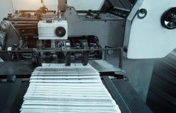 Processo in stamperia moderna, stampa offset Immagine Stock