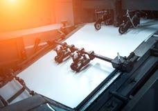Processo in una stamperia moderna Fotografie Stock Libere da Diritti