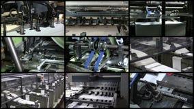 Processo video da indústria de impressão da parede video estoque