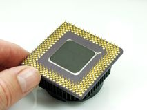 Processor. Computer cpu processor close up Royalty Free Stock Image