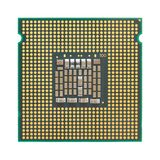 Processor. Computer CPU isolated on white background Stock Photo
