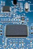 Processor. On the electronic board Royalty Free Stock Image