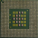 Processor. The pines on a processor in detail Stock Photos