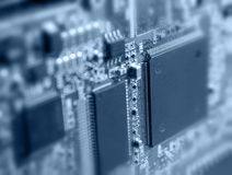 Processor. Close-up of electronic circuit board with processor Stock Photos