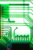 Processor. Close-up of computer printed circuit board Royalty Free Stock Images