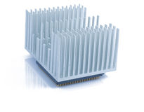 Processor and aluminium cooling system Stock Photo
