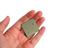 Processor back Royalty Free Stock Photography