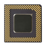 Processor chip. It is photographed by close up Stock Photos