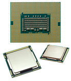 Processor chip. The new processor Intel Core i5 close up stock image