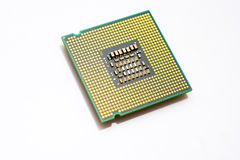Processor chip. Isolated over a white background Royalty Free Stock Images