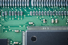 Processor and circuit board closeup Royalty Free Stock Images