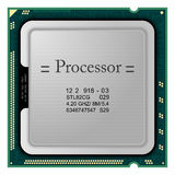 Processor. Computer Hardware. Realistic  processor for computer Stock Image