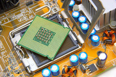 Processor on the computer motherboard Stock Image