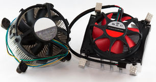 Processor cooler. Replacement coolers for desktop-type computers Stock Photography