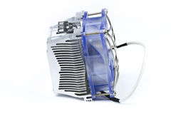 Processor Cooler. Detail of processor (CPU) cooler on white background Stock Photography