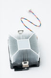 Processor cooler. Fan on white background Royalty Free Stock Images