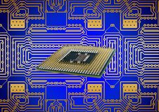 Processor, Cpu, Board, Circuits Royalty Free Stock Images