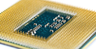 Processor CPU for computer, smartphone or tablet Stock Photo