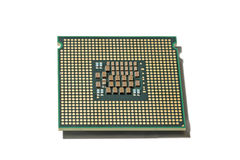 Processor CPU isolated. Processor CPU closeup isolated on white background Royalty Free Stock Photo