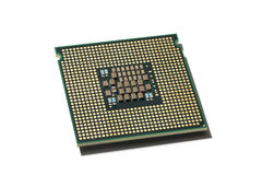 Processor CPU isolated. Processor CPU closeup isolated on white background Royalty Free Stock Image