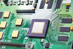 Processor on electronic board royalty free stock image