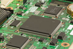 Processor on electronic board. Royalty Free Stock Photo