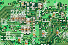 Processor on electronic board. Stock Photos