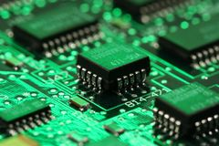 processor för datormainboardmicro Fotografering för Bildbyråer