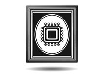 Processor,framed icons, illustration Stock Photography