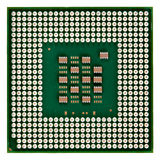 Processor with gold contact Stock Photos