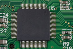 Processor on green board Royalty Free Stock Photo