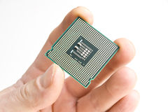Processor in the hand Royalty Free Stock Images