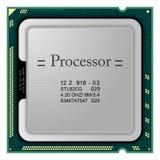 processor Hardware di calcolatore Immagine Stock