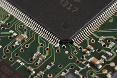 Processor i större, makro Arkivbilder