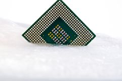 Processor in ice Stock Photography