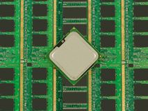 Processor and memory Royalty Free Stock Photos