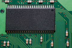 Processor microchip Stock Photo