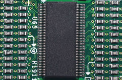Processor microchip Royalty Free Stock Image