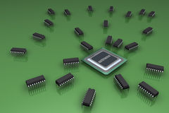 The processor and microprocessors Stock Photography