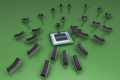 The processor and microprocessors Royalty Free Stock Photography