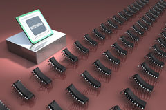 The processor and microprocessors Royalty Free Stock Photos
