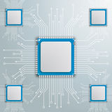 Processor Motherboard Infographic 5 Options Royalty Free Stock Photography