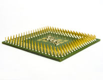 Processor with a plurality of contacts Stock Photos