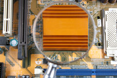Processor with radiator Royalty Free Stock Image