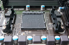 Processor socket. On the motherboard Royalty Free Stock Image