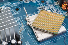 Processor socket on the motherboard. Royalty Free Stock Photography