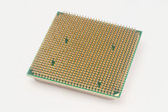 Processor som isoleras på det vita bakgrundsslutet upp Full fokusframdel och baksida Royaltyfri Foto