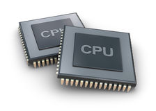 Processor unit 3D concept Stock Photos